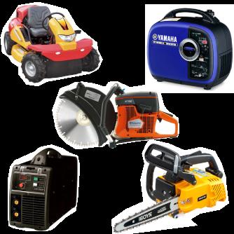 エンジンチェーンソー、エンジンカッター、芝刈り機、発電機