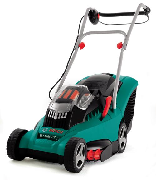 ボッシュのバッテリー芝刈機ROTAK 37LI買取致します。